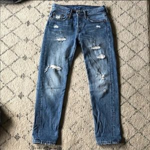 Levi's Destroyed 501 T Tapered Jeans size 24